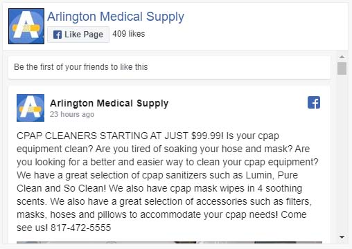 Medical Xpress Arlington Facebook