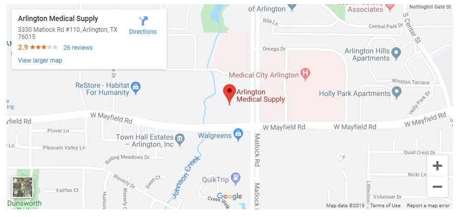 Arlington Medical Supplies Map