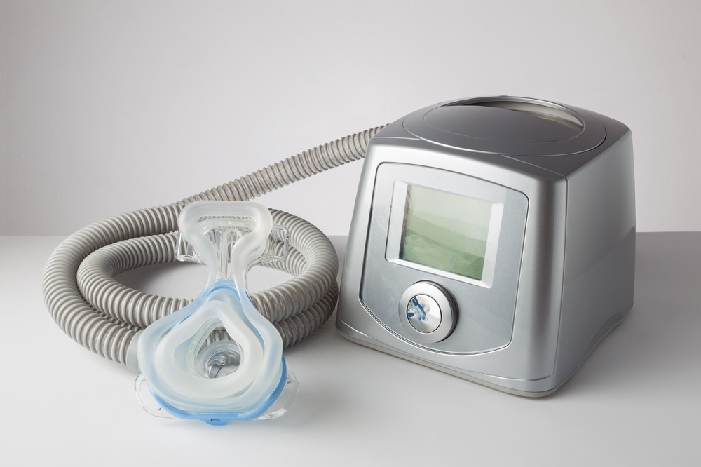 CPAP machine, mask, and hose