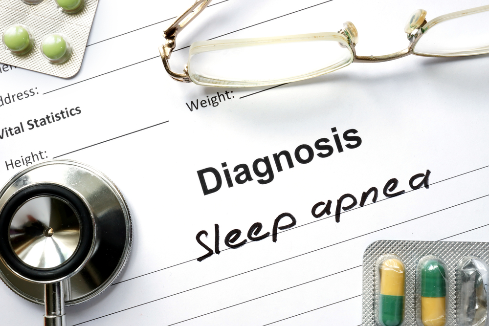 Sleep apnea diagnosis with pills and stethoscope